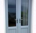 Grey Storm doors